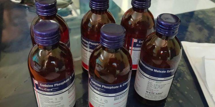 Bottles of Codeine Phosphate