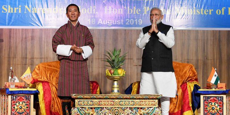 PM Narendra Modi with his Bhutan counterpart Lotay Tshering. (File image)