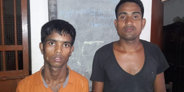 Two of the four cattle lifters arrested by Hailakandi police