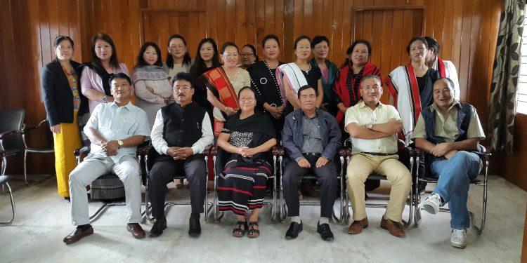 Leaders of Naga Hoho and Naga Mothers Association at a meeting in Kohima. (File image)