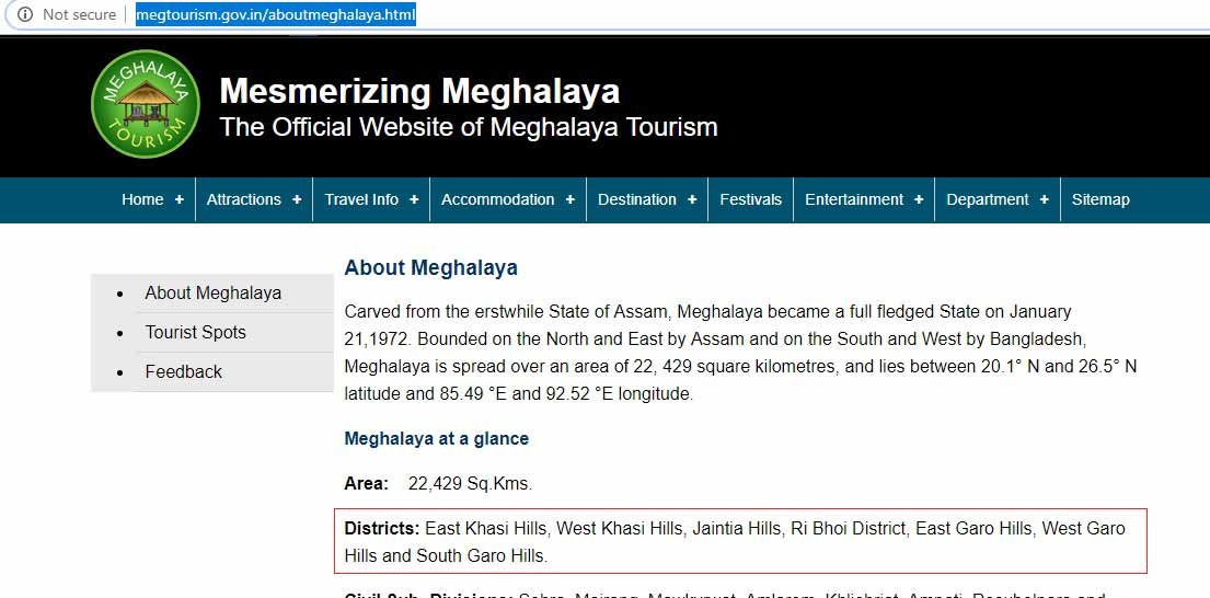 Tourism dept paints off-beam picture of Mesmerizing Meghalaya 1