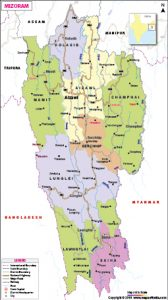 PRISM, MPC demand inner line reserve forest in Mizoram map 1
