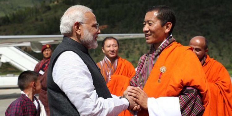 Modi and Lotay Tshering