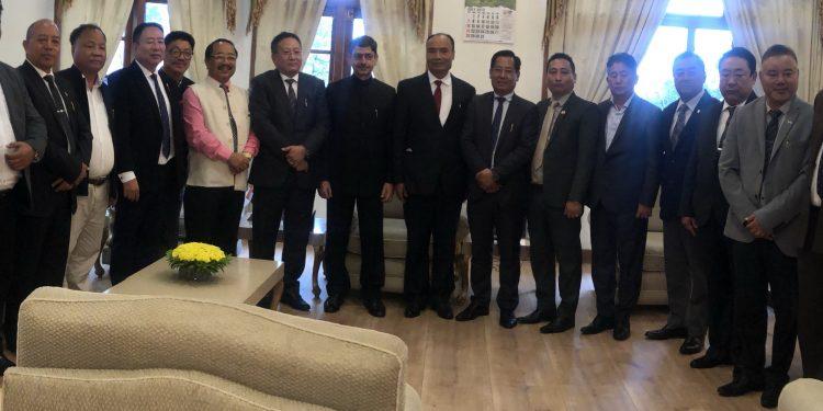 NPF legislators meet new Nagaland governor RN Ravi at Raj Bhawan in Kohima (File image) .