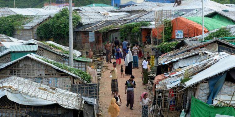 Rohingya refugees in a camp in Bangladesh. (File image)