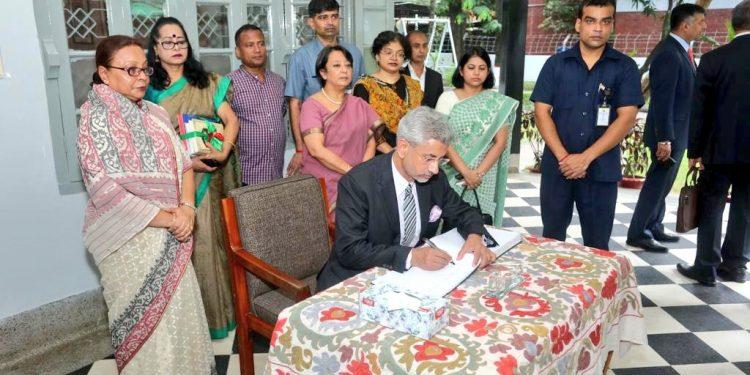 External affairs minister S Jaishanker in Dhaka. Image credit: Twitter