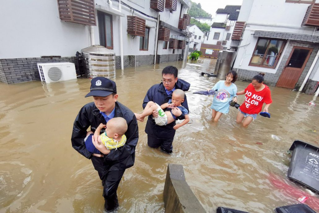 Image result for least 44 people have been killed and nine others missing in eastern ... Lekima made landfall in Wenling, Zhejiang province, China,