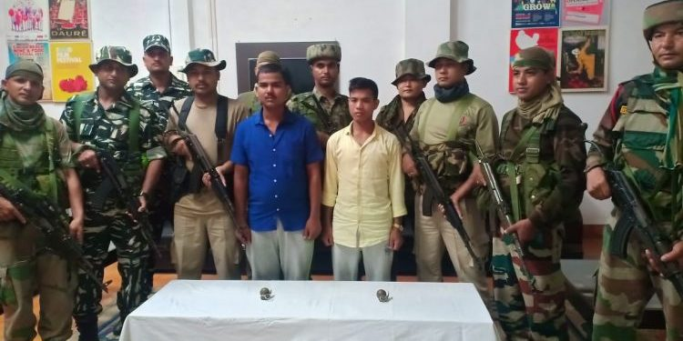 The surrounded ULFA (I) rebels with securty personnel