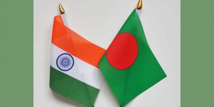 India, Bangladesh flags