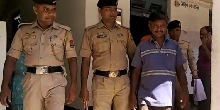 Police have arrested two men for allegedly assaulting a lower court judge at Bankar market in South Tripura.