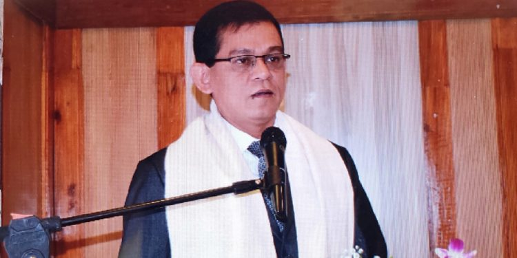 Ahmad Kabir while speaking at the bilateral meeting in Shillong on August 20, 2019. Image: Northeast Now