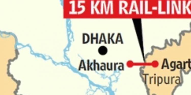 The project will link Agartala with Bangladesh Railway network at Akhaura.