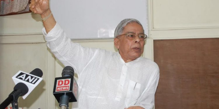 File image of former chief minister of Tripura Samir ranjan Barman.