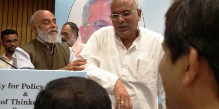 Chhattisgarh CM Bhupesh Baghel in New Delhi on Sunday.