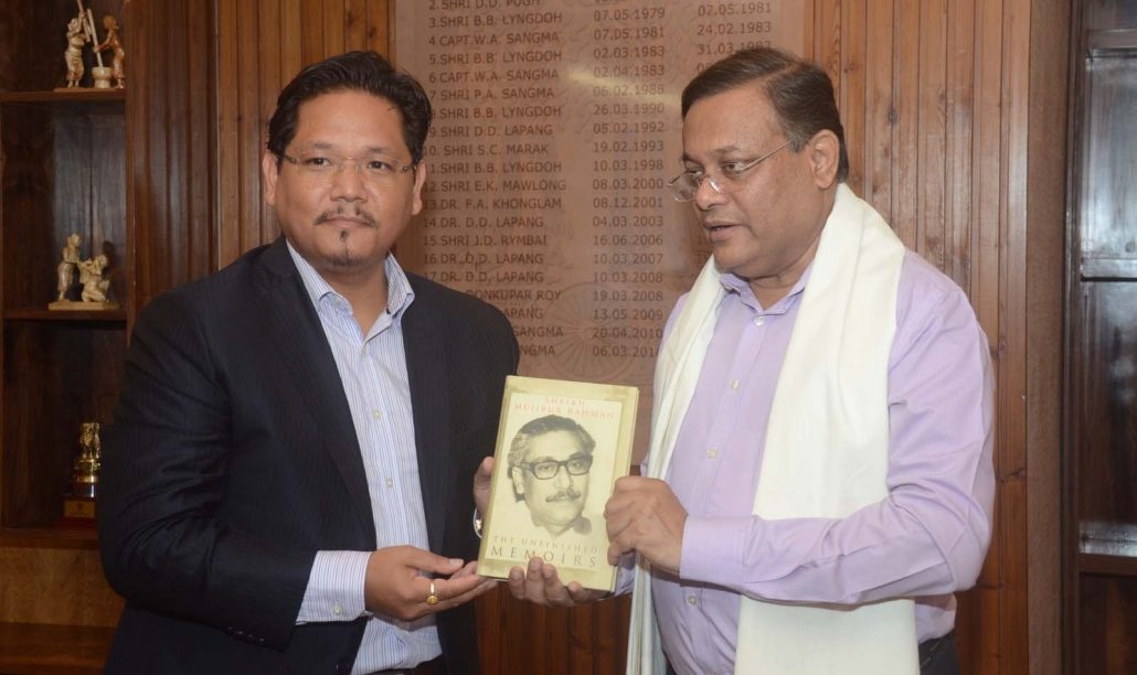 Bangladesh Information Minister Mahmud meets Meghalaya CM 4