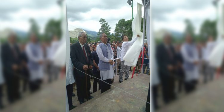 Manipur Deputy Chief Minister Yumnam Joykumar during the inauguration of war memorial. Image: DIPR