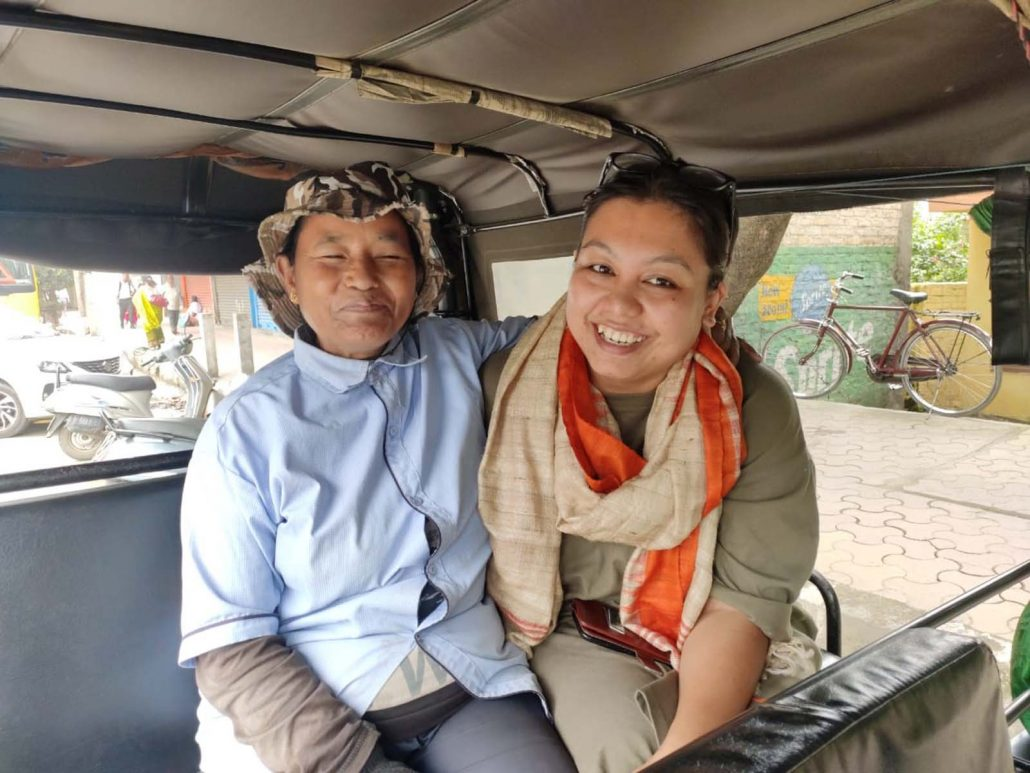 Laibi Oinam with filmmaker Meena Longjam