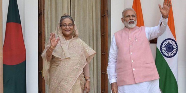 Sheikh Hasina with Narendra Modi (File image)