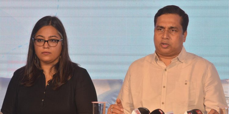 Assam Tourism Development Corporation (ATDC) chairman, Jayanta Malla Baruah (right) and Tara Bedi, public policy and community outreach manager, Instagram addressing media in Guwahati on Saturday. Image by UB Photos
