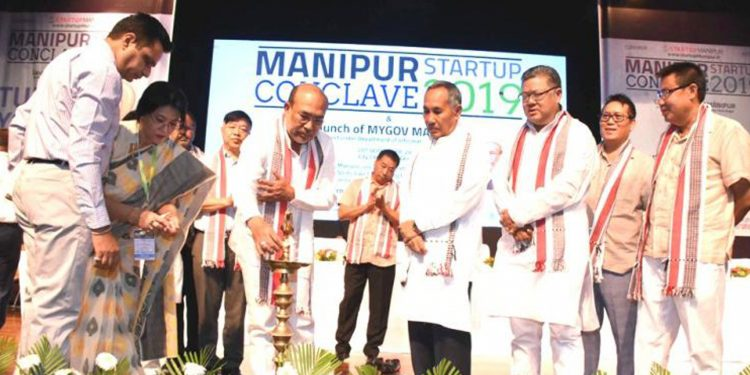 Manipur CM inaugurating the Manipur Start-up Conclave 2019. Image credit: e-Pao