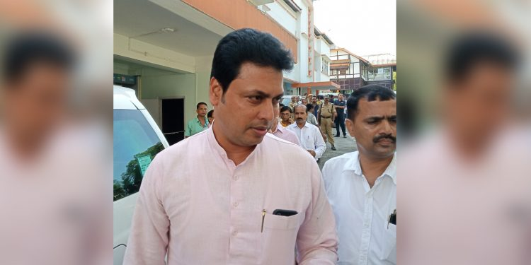 Tripura CM Biplab Deb in Silchar. Image: Northeast Now