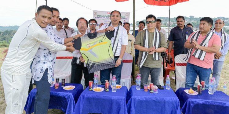 Arunachal Pradesh sports and youth affairs minister Mama Natung  inaugurates the Donyi-Polo Cricket Academy (DPCA) at the Donyi-Polo Colony.