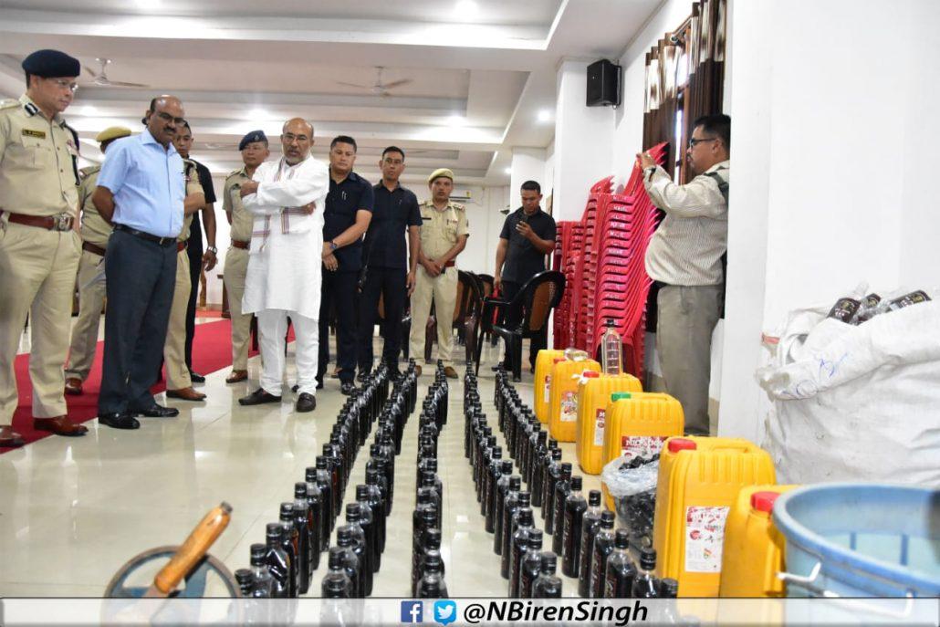Manipur CM announces strict action against illicit liquor manufacturers, sellers 1
