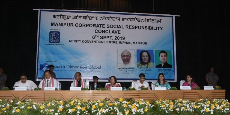 Manipur Governor Dr Najma Heptulla and others on the dais. Image: Northeast Now