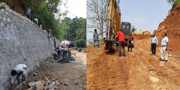 Construction of an alternate road to Kamakhya. Image: Twitter