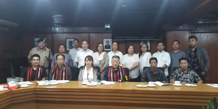 Nagaland government officials with the Japanese delegation in Kohima on Tuesday. Image: Northeast Now