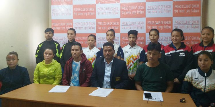 Boxing team from Sikkim during interacting with the media. Image: Northeast Now