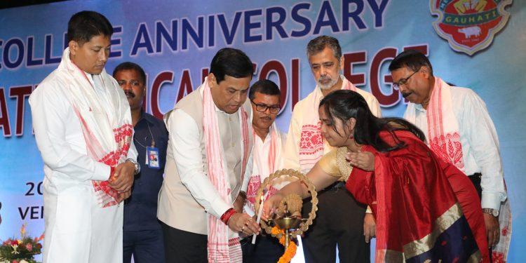 Assam CM Sarbananda Sonowal inaugurating the 59th anniversary of GMCH. Image credit: UB Photos