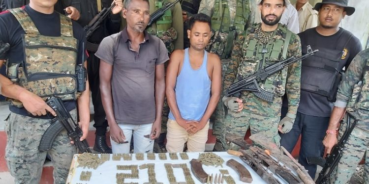 Kokrajhar SP Rajen Singh said the two ACMA rebels were arrested with arms and ammunition last night in district.