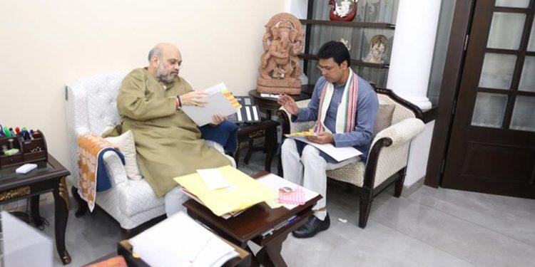 Biplab Kr Deb with Amit Shah