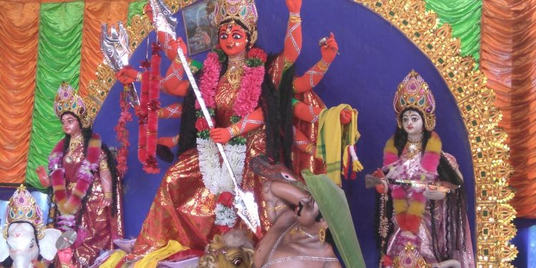 File image of rare Durga idol of Royal celebration of Darrang.Image: Northeast Now