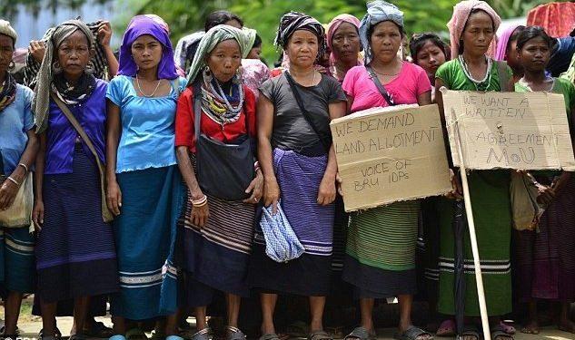 File photo of Bru refugees in Tripura