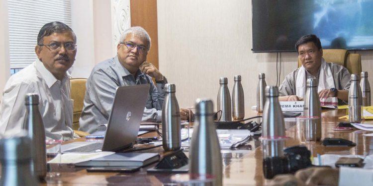 Khandu with OIL officials