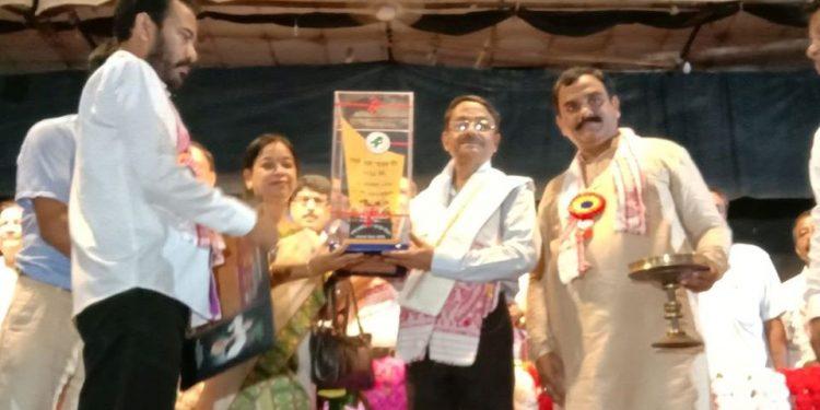 The award was presented to Goswami by the State AJYCP president Rana Pratap Baruah.