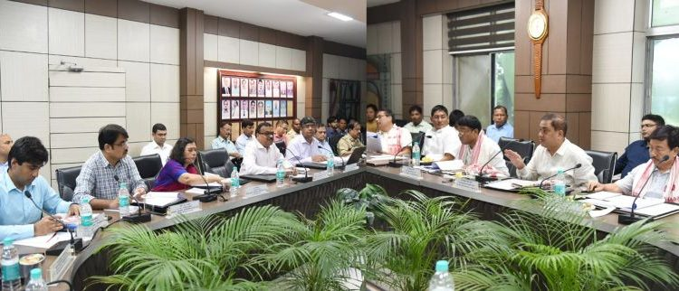 MPs with NFR officials during a meeting held at Divisional Headquarters in Tinsukia on September 10. 2019. Image courtesy: NFR