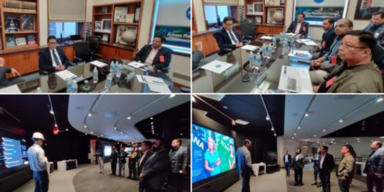 Conrad with NASA officials