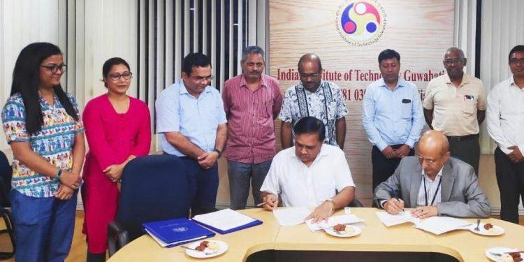The MoU was signed between senior CGM (Corporate Affairs) NRL, Nikunja Borthakur anddirector, IITG TG Sitharam.