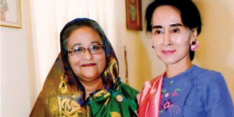 File image of Sheikh Hasina and Aung Saan Suu Kyi. Image courtesy: Asian Affairs