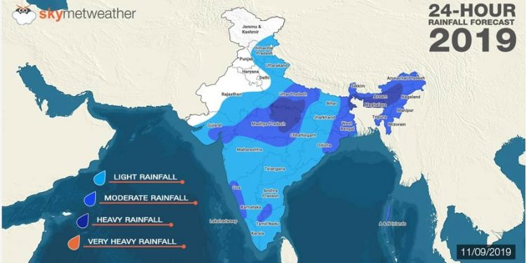 Heavy to very heavy rainfall likely in Northeast 1