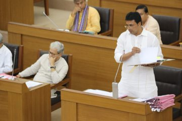 Tripura chief minister Biplab Kumar Deb replying to queries in Assembly on September 2, 2019. Image courtesy: Twitter @BjpBiplab