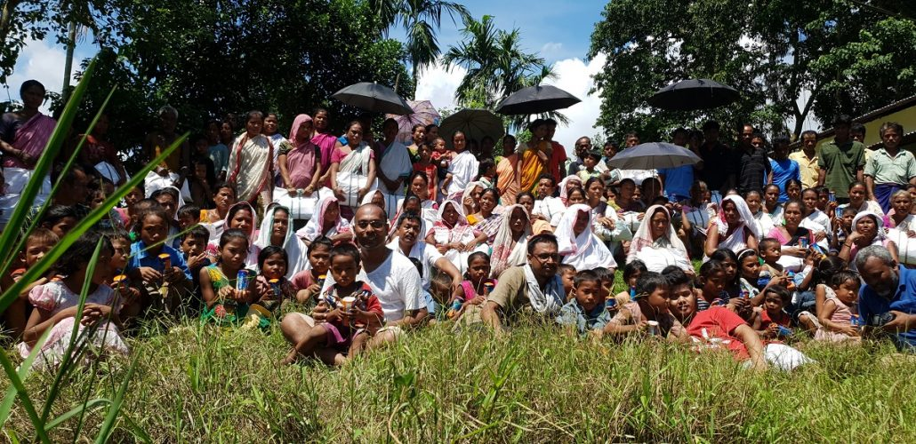How Majuli's community library's children got together for flood aid 2
