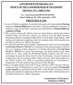 Meghalaya govt's strict guideline to local taxi drivers 3