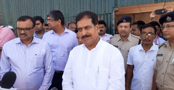 Union minister Suresh Channabasappa Angadi on Bogibeel bridge.