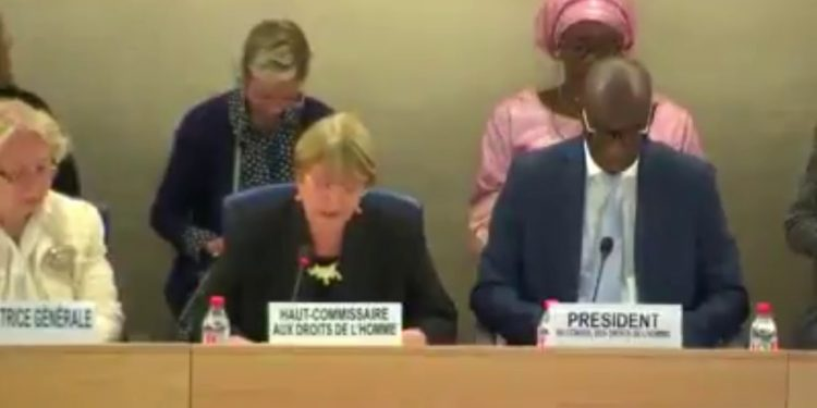 UN Human Rights chief Michelle Bachelet speaking at the 42nd session of the UN Human Rights Council in Geneva on September 9, 2019. Image courtesy: Youtube