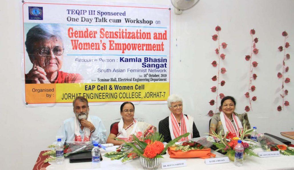 Assam: Feminist Kamla Bhasin delivers speech on gender sensitisation at Jorhat 1
