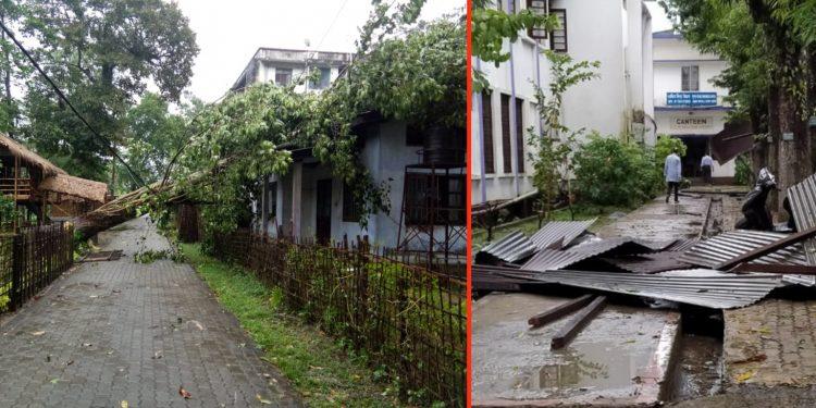 Trail of destruction left by heavy storm in Jorhat.